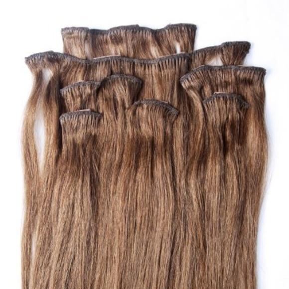Hair Faux You Accessories 18 Inches 7pcs Clip In Human Hair